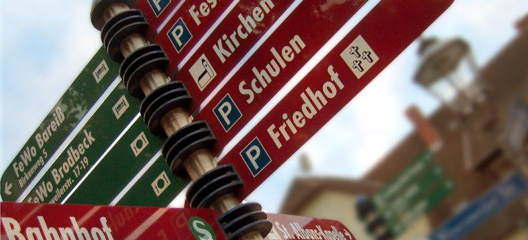 [CC-BY SA]  In der Stadt/ Nach dem Weg fragen (S. Wonisch)